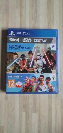 Gra PS4 SIMS 4 plus dodatek Star Wars wyprawa na Batuu idealna! PL