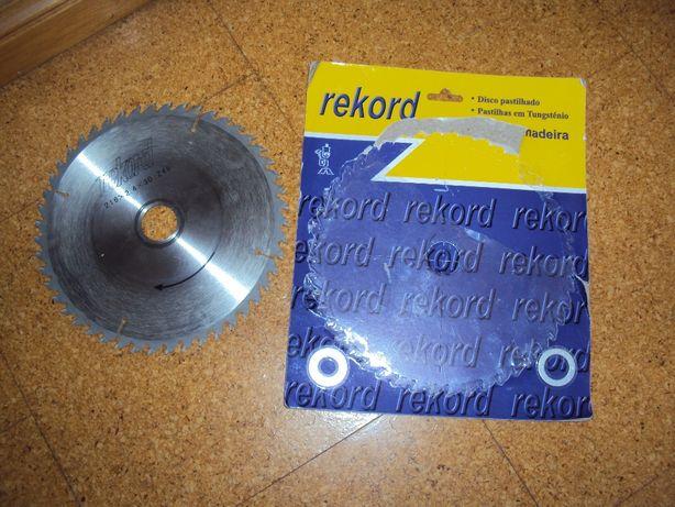 Um disco com pastilha para corte de madeiras só usado uma vez