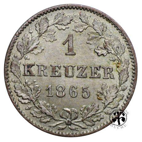 1 krajcar 1865 r. Wurttemberg
