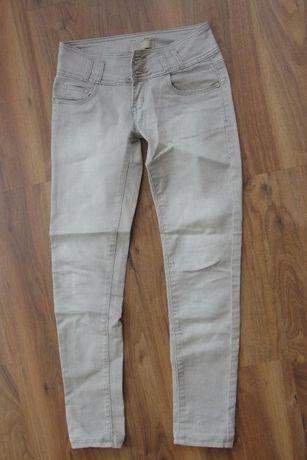 Spodnie rurki rozmiar XS, kolor beżowy