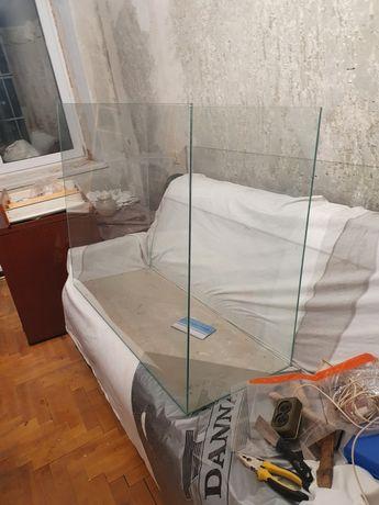 Терраріум скляний, тумба зі скла, скляний, типу акваріума