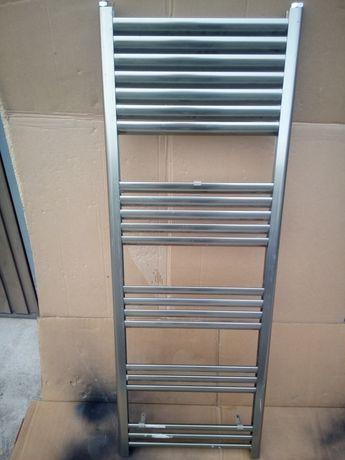 Grzejnik łazienkowy grzejnik drabinkowy 140cmx50cm srebrny