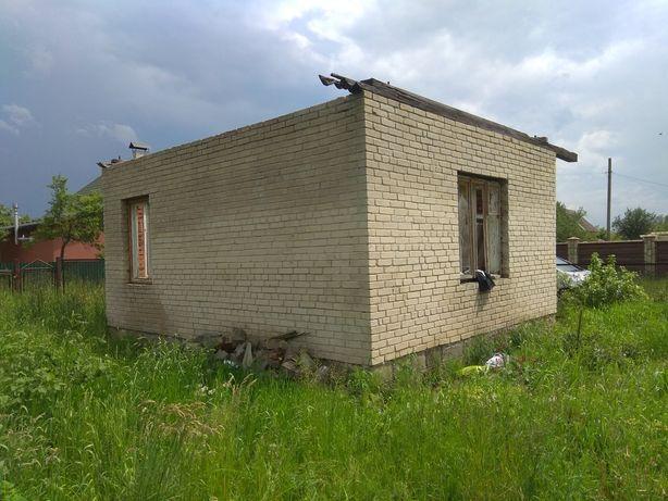 Дачна ділянка в с.Мирне - незавершене будівництво