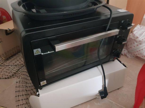 mini forno electrico usado como novo