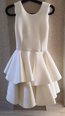 Sukienka biała, ślub cywilny roz. 34