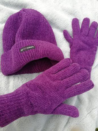 Шапка +перчатки комплект