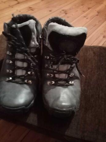 Buty zimowe skórzane
