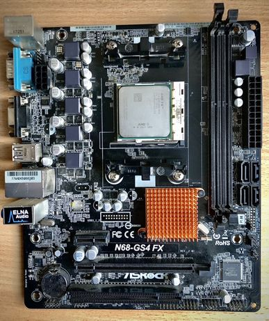 Материнская плата Asrock N68-GS4 FX AM3 и процессор AMD  FX 4320