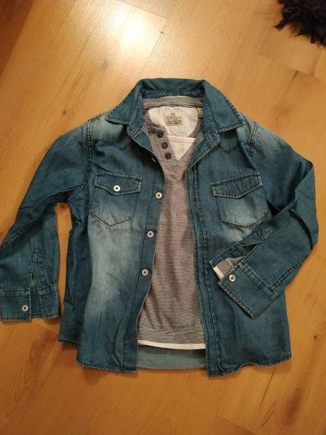 Koszula jeansowa scotch shrunk, rozmiar 116,bluzka bawełniana
