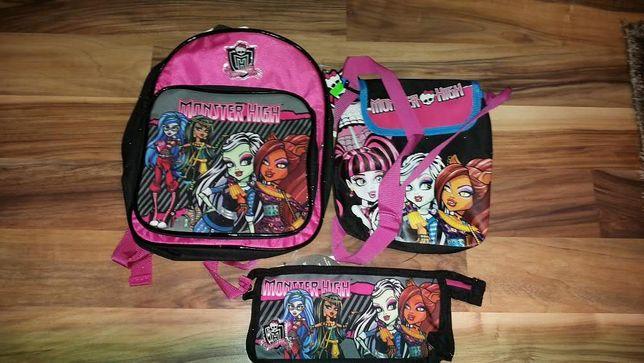 Zestaw plecaczek,torba na ramię i saszetka Monster High