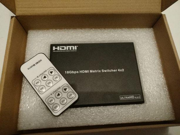 HDMIMX42V2 Pro2 4X2 HDMI 18Gbps Matrix Switch