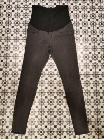 Spodnie ciążowe 40 grafitowe h&m mama długie