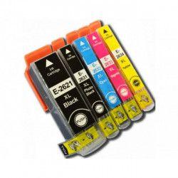 Conjunto 5 Tinteiros Compatíveis Epson 26XL - T2621/T2631/2/3/4