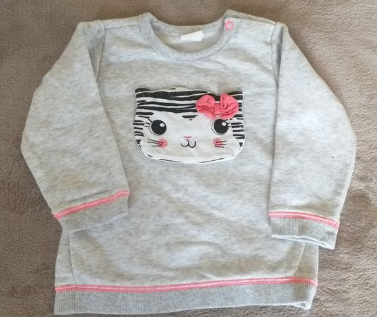 Bluza hm dziewczynka 80 kotek