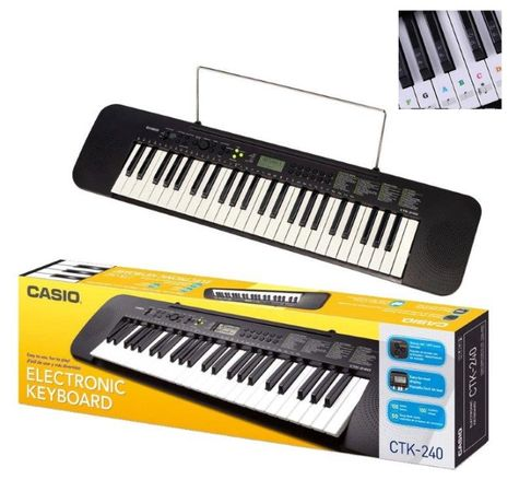 Casio CTK-240 + Naklejki na klawisze