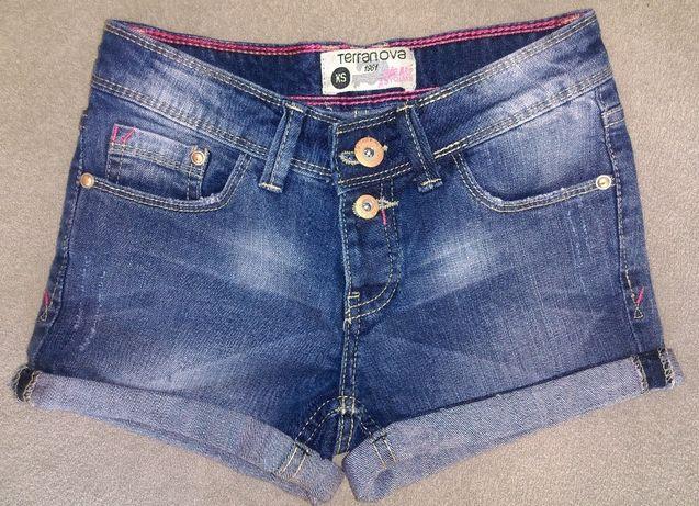 Krótkie jeansowe spodenki Terranova