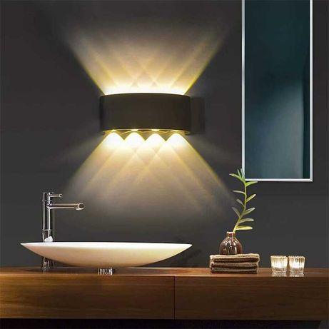 Loft 2021 Kinkiet Lampa Ścienna 8W 3000K Barwa Ciepła HIT Aluminium