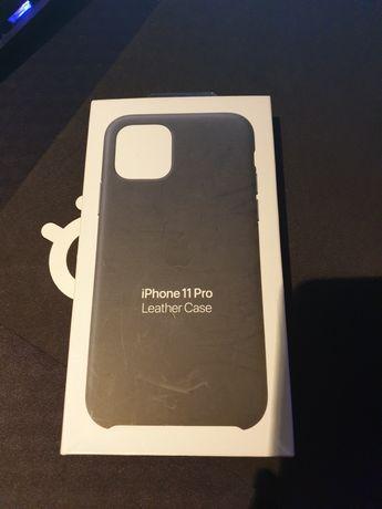 Etui Iphone 11 Pro Leather Case Granatowy