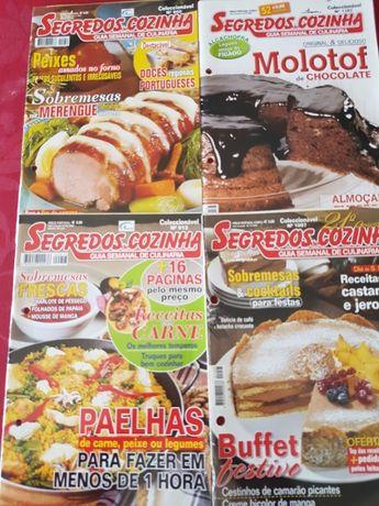 """20 Revistas """"Segredos de Cozinha"""" + """"Banquete/revista culinária"""""""