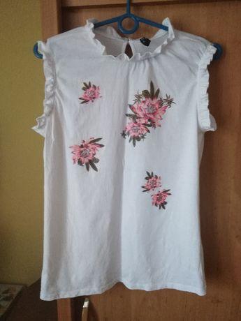 Elegancka bluzka w kwiaty rozmiar L