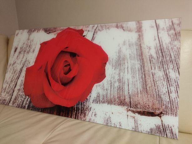 Obraz szklany róża 100x50 nowy