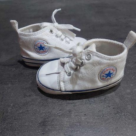 Conversy niechodki 18/ 11 cm dla niemowlaka białe