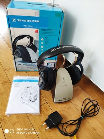 Słuchawki bezprzewodowe nauszne firmy Sennheiser RS130 - stan idealny