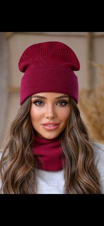 Женский набор шапка и хомут