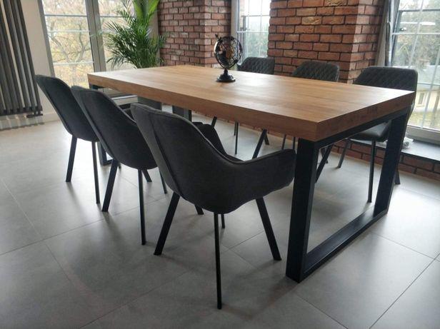 Stół dębowy na metalowych nogach LITE DREWNO !!!