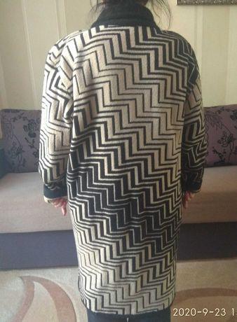 Жіноче в'язане пальто, кашемірове, 58 розмір