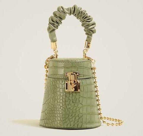 Женская мини сумка бочонок