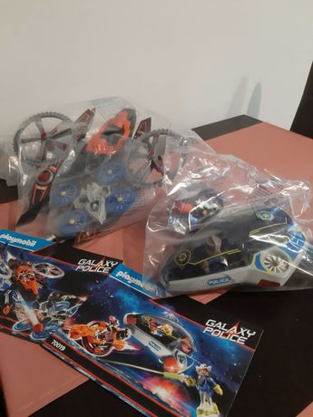 Dwa zestawy Playmobil Galaxy Police. 70023 i 70019