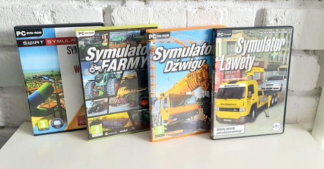 Symulatory na Pc (symulator farmy, dźwigu, lawety i parku wodnego)