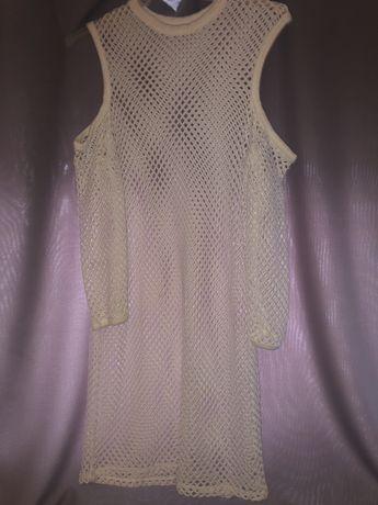 Śliczna biała siateczko sukienka