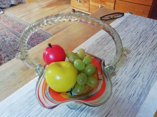 Koszyk szklany PRL