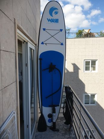 stand paddle wave