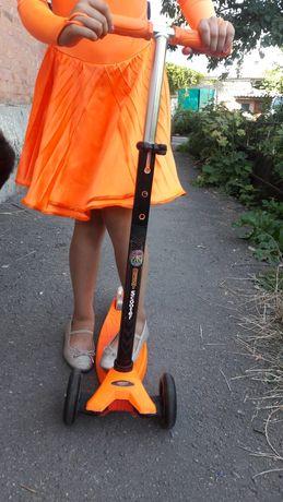 Самокат scooter  светящиеся колеса!!!