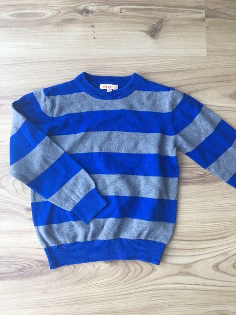 Sweter w paski 116 cm