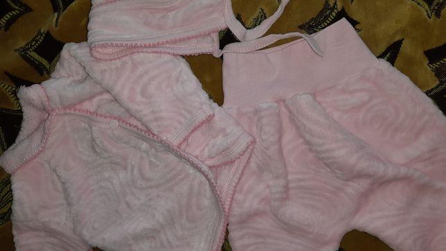 Плюшевый костюм на малышку 0-3 мес