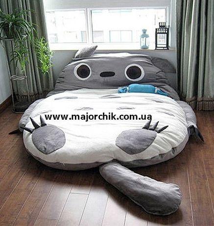 Большая мягкая игрушка кровать матрас 3 в 1 Тоторо Панда Лиса Миньон