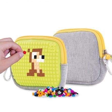 Upixel кошелёк пенал неоновый жёлтый пиксель лего lego