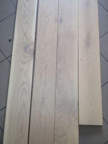 Deska podłogowa lita - dąb bielony 18x165x1820 przecena końcówki