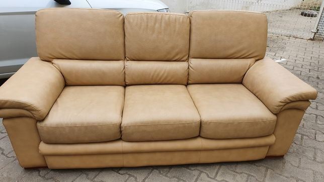 Sofa cama pele camel