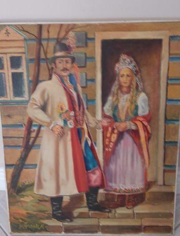 Obraz A .Żytniaka na płótnie ,Wesele.