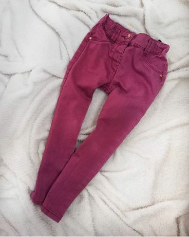 Бордові джинси на дівчинку 2-3 р