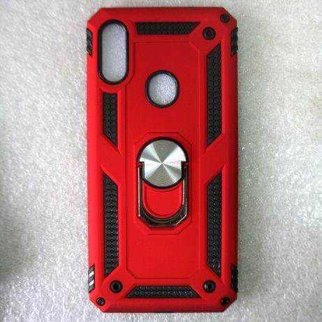 Чохол смартфон Xiaomi redmi Note 7 антиударний підставка червоний
