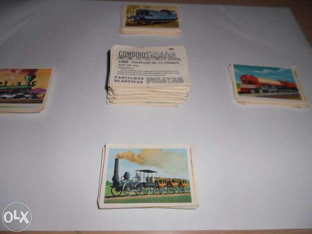 Comboios- Coleção de Cromos Pastilhas PIRATA(170 cromos)