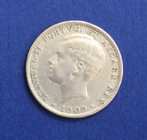 200 réis 1909 - D. Manuel II - prata