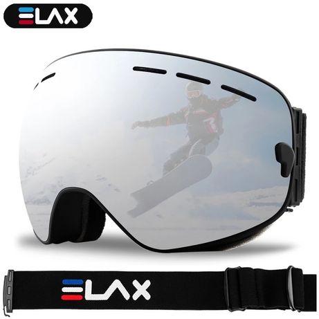 Лыжные очки ELAX, двухслойные, антизапотевающие, для катания на сноубо