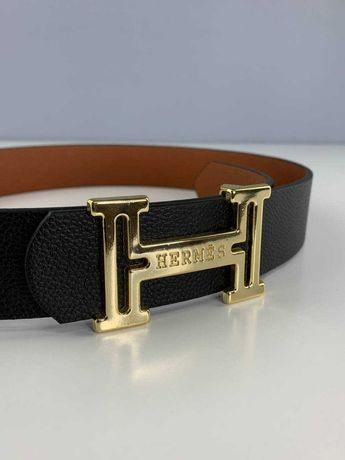 Мужской ремень стиль Hermes 105 - 130 см, в подарочной коробке